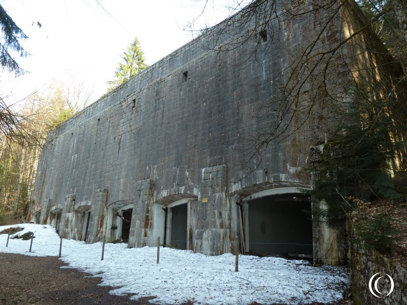 The impressive facade of the Coal Storage Bunker