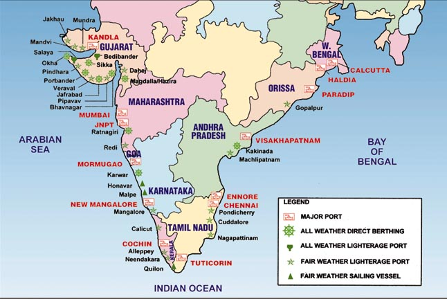 List of Important Ports of India