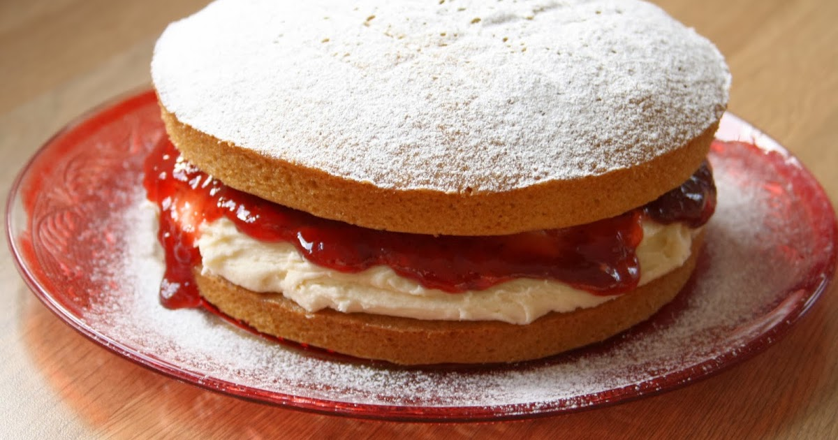 Sponge Cake Recipe Uk Plain Flour: Floral Frosting: Easiest Victoria Sponge Cake