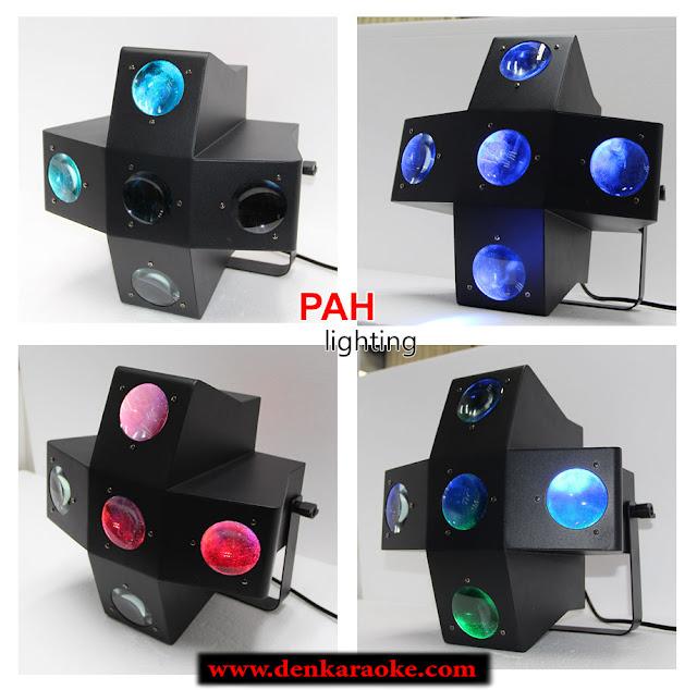 Với 5 mắt của đèn tạo ra nhiều tia cộng và 7 màu cơ bản, đèn LED sân khấu sẽ cho không gian xung quanh bạn đủ sắc màu, hiện đại.