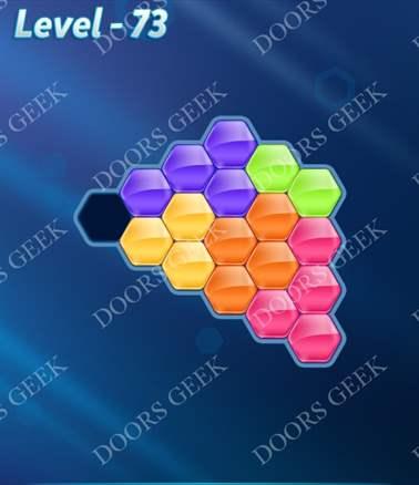 Block! Hexa Puzzle [Intermediate] Level 73 Solution, Cheats, Walkthrough for android, iphone, ipad, ipod
