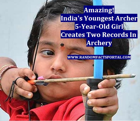 Amazing! India's Youngest Archer, 5-Year-Old Girl Creates Two Records In Archery