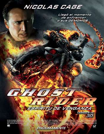 Poster Of Ghost Rider Spirit of Vengeance 2011 Dual Audio 350MB BRRip 720p ESubs HEVC Free Download Watch Online Worldfree4u