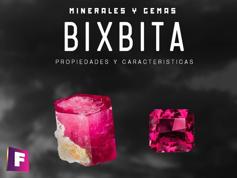La bixbita o berilo rojo una variedad del berilo junto con la aguamarina, siento la bixbita una de las mas raras variedades