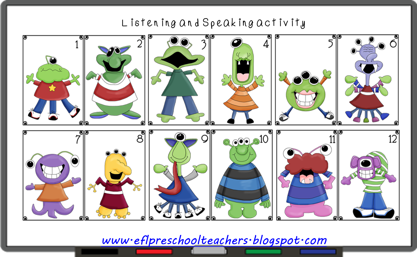 Esl Efl Preschool Teachers Adjectives For Preschool Ell
