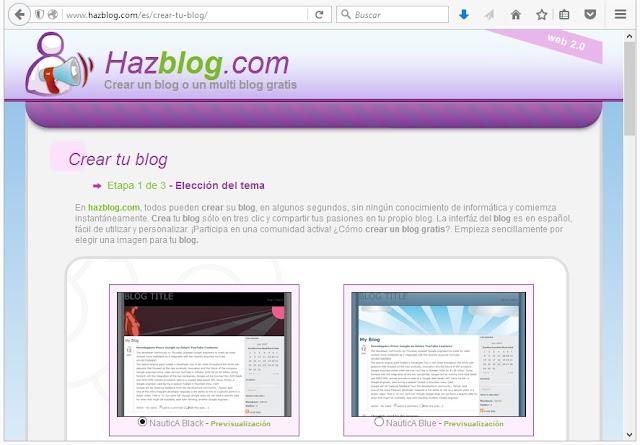 Hazblog, Sitios Para Crear un Blog Gratuito