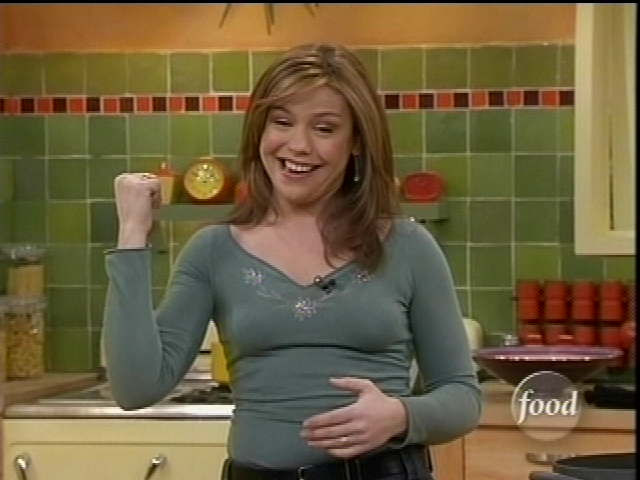 Rachel ray downblouse and upskirt
