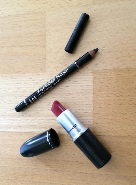 Maybelline Kajal & MAC Lippenstift
