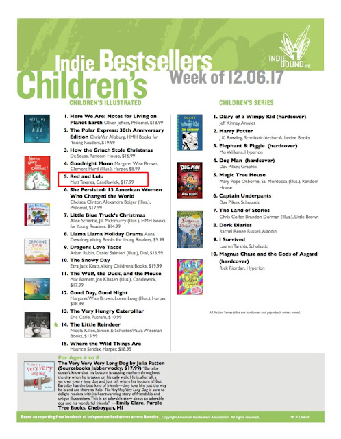 Red & Lulu hits #5 on the Indiebound National Bestseller List!