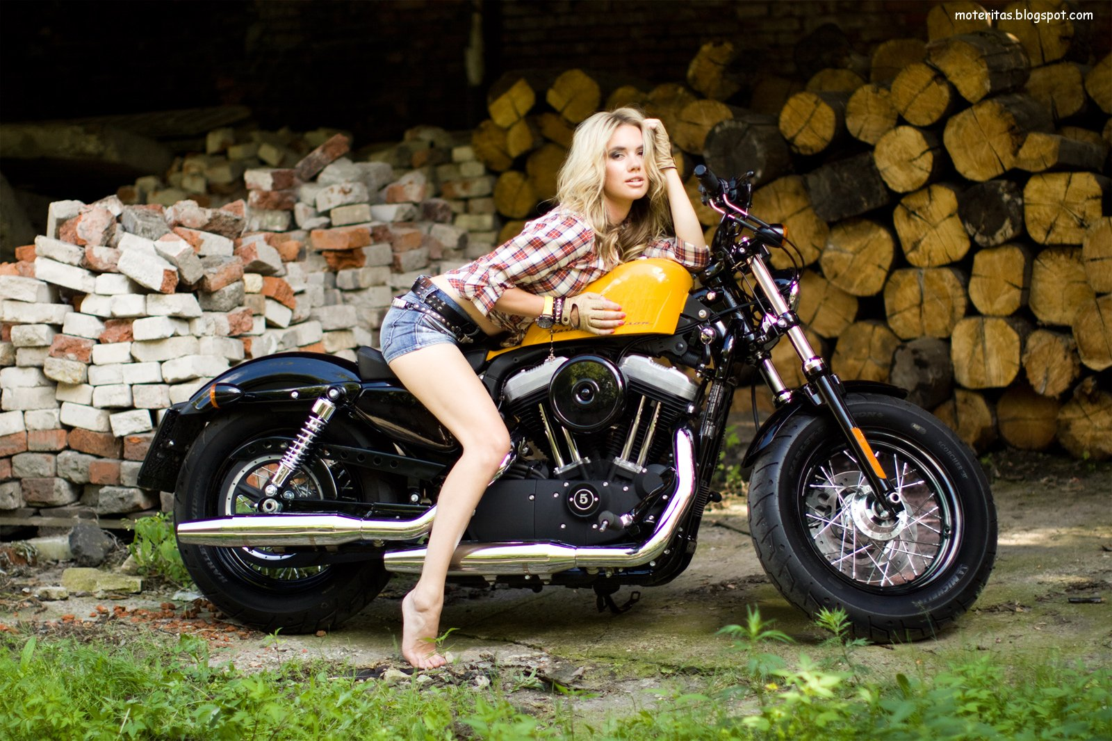 Motos Y Mujeres Resoluci 243 N Hd Harley Davidson Forty Eight