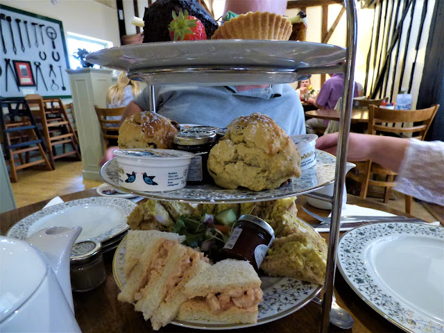 Afternoon tea at Tiptree Tea Rooms, Jam Factory and Museum, Essex