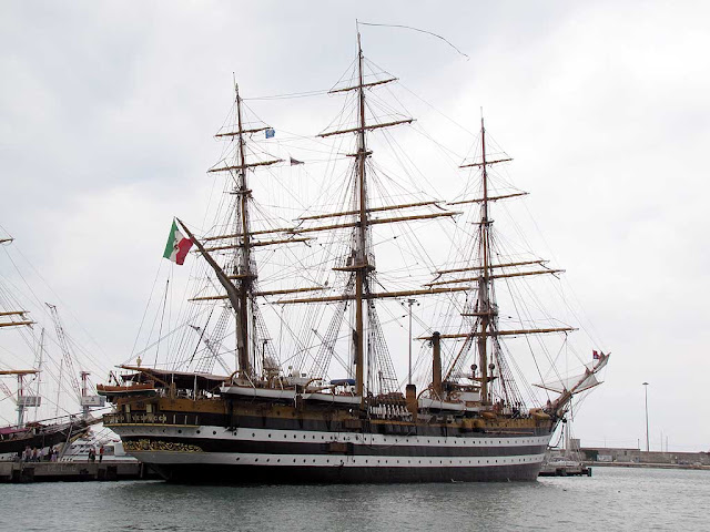 Training ship Amerigo Vespucci, Livorno