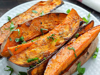 Extra Crispy Sweet Potato Wedges