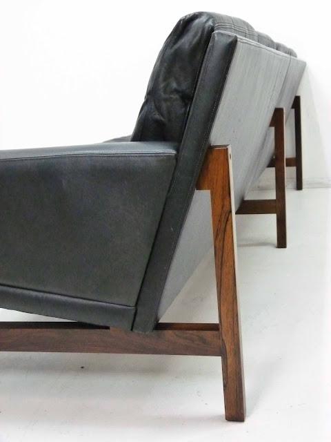 Sven Ellekaer Danish Modern Rosewood & Leather Sofa 4