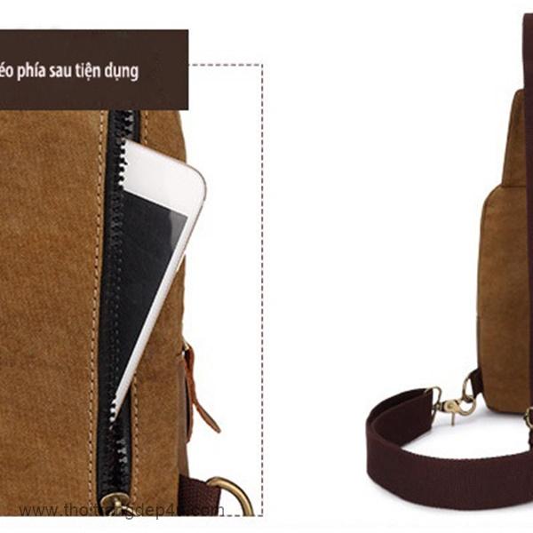 Túi đeo chéo nam vải bố nam thời trang BAF246