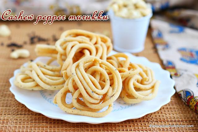 Cashew- pepper murukku