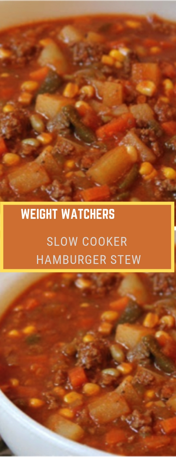 Weight Watchers Slow Cooker hamburger stew