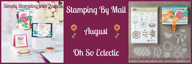 Oh So Eclectic - Stamping By Mail Class - August - See more information and sign up here - http://www.simplystampingwithnarelle.com/p/stamping-by-mail.html