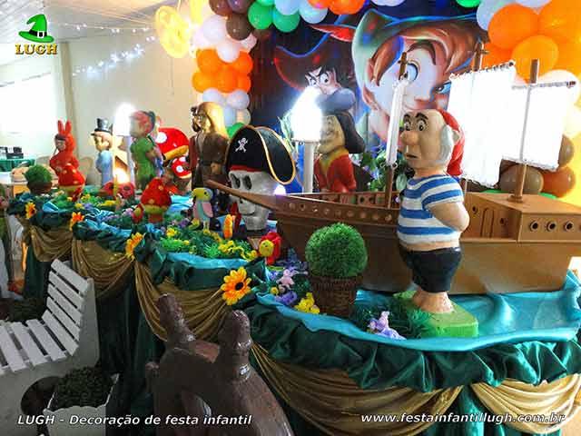 Ornamentação tema Peter Pan - Mesa luxo para festa de aniversário