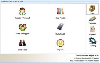 Software Toko dan Kasir Support Barcode. Fitur Lengkap cocok untuk penjualan