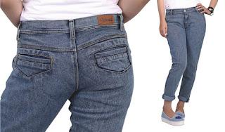Celana jeans wanita kantong poket