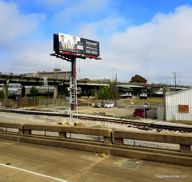 Trajeto do aeroporto de Nova Orleans ao Centro da cidade