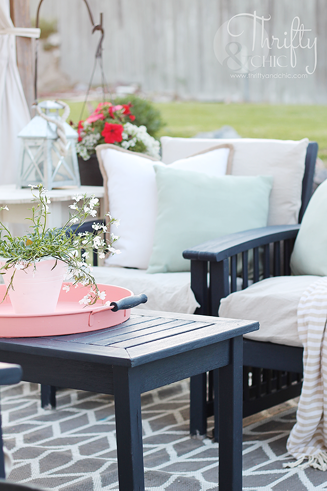 Beautiful Patio Makeover On A Budget. Patio Decorating Ideas And Decor. Update Old Patio  Furniture