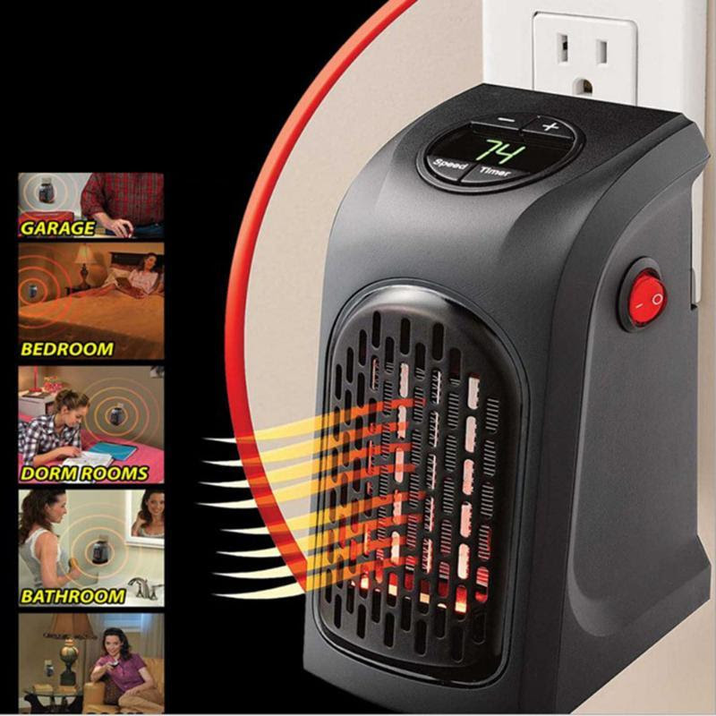 400W Mini Electric Outlet Space Heater