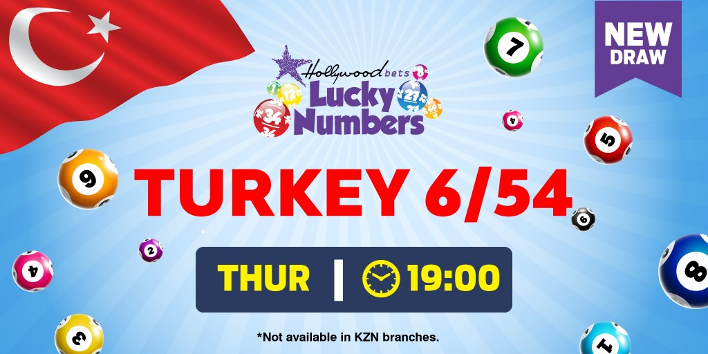 Turkey - 6/54 Lotto - Lucky Numbers - Hollywoodbets