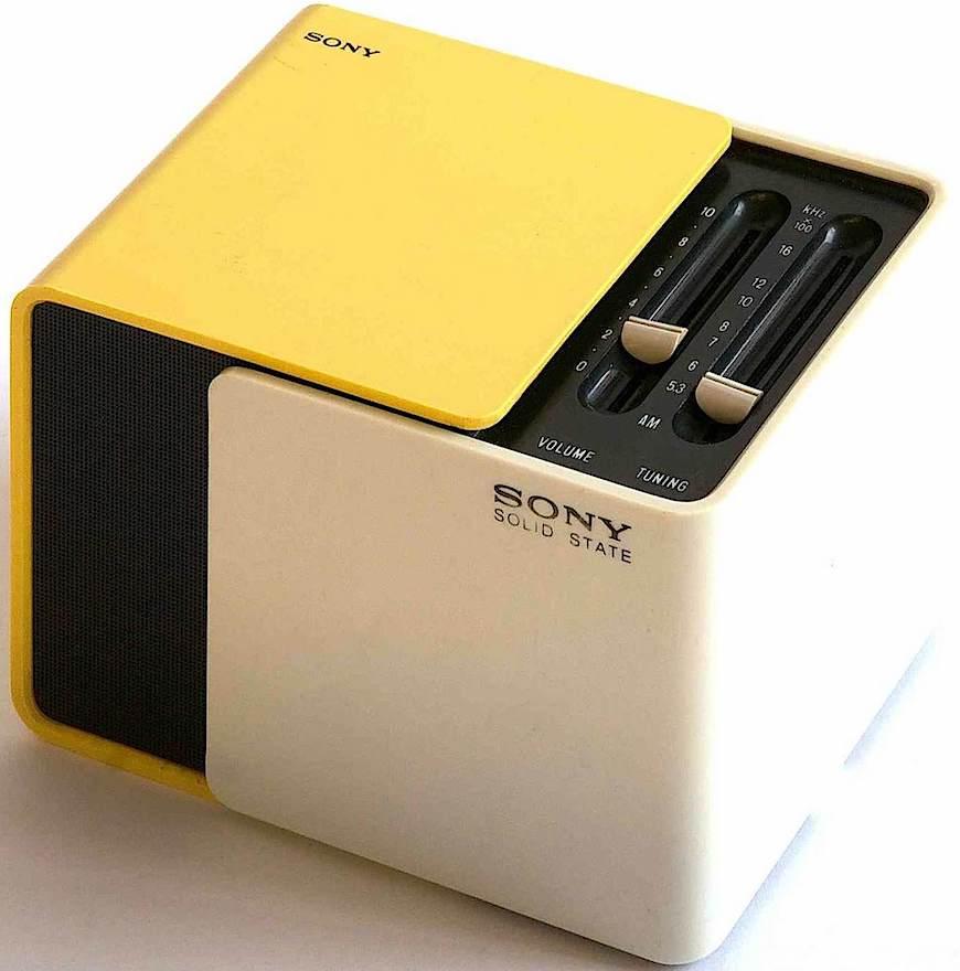 1970 Sony cube radio, Scandinavian design influence