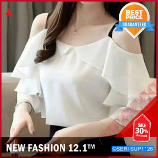 SUP1126S12 Sabrina Shirt Bajuatasan Blouseatasan Atasanwanita Murah BMGShop