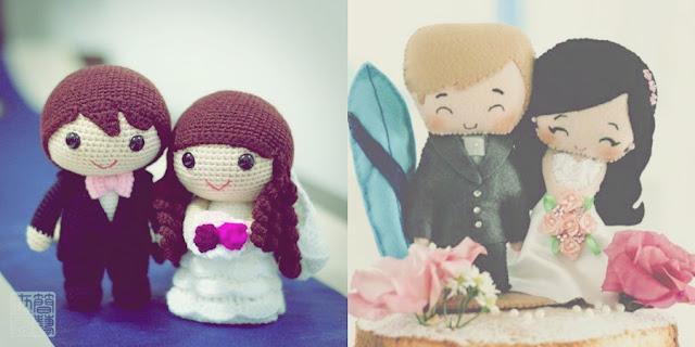 topo de bolo casal fofo