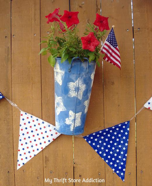 vintage patriotic planters