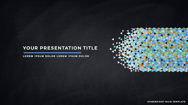 Polygonal Presentation Title Background Free PowerPoint Template with Dark Background