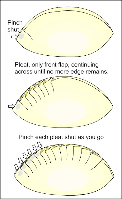 How to pleat potstickers