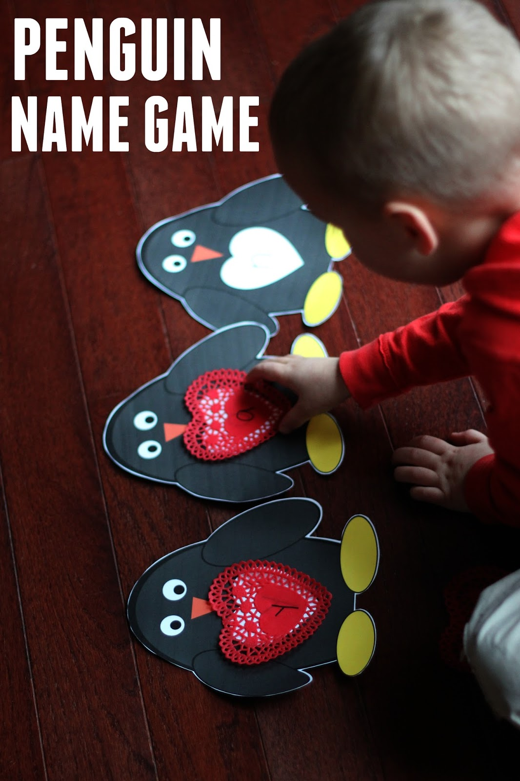Toddler Approved Penguin Name Matching Game For Preschoolers