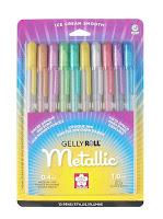 Gelly Roll Metallic Gel Ink Pen Set