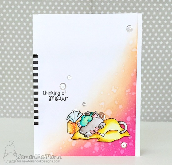 Thinking of Mew Card by Samantha Mann | Newton's Sick Day Stamp Set by Newton's Nook Designs #newtonsnook #handmade