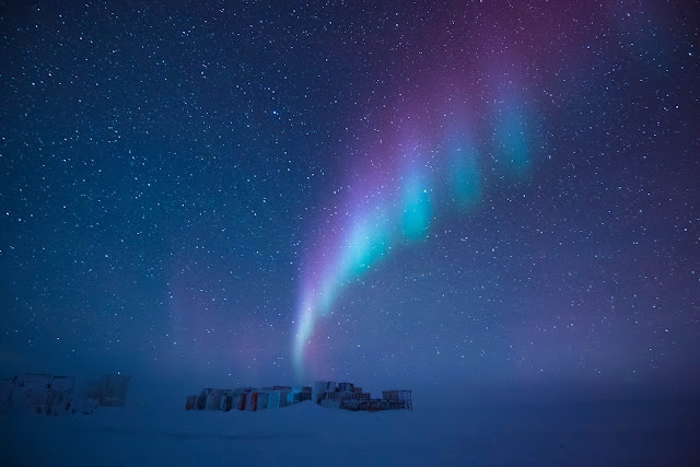 Aurora over Antarctica