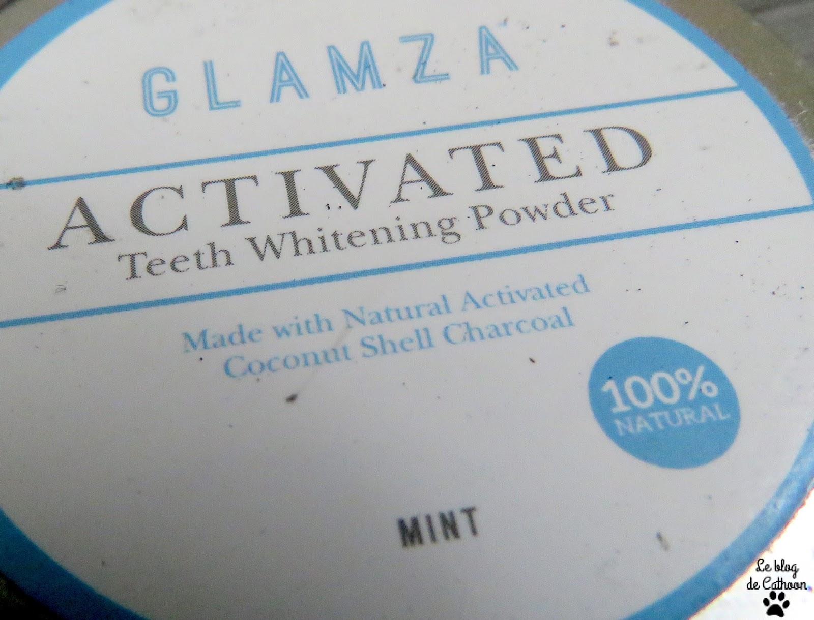 Glamza, Poudre de Blanchissement Dentaire au Charbon Actif