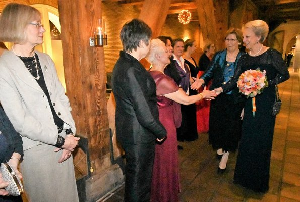 Princess Benedikte of Denmark attended the 40th anniversary dinner for the International Women's Club
