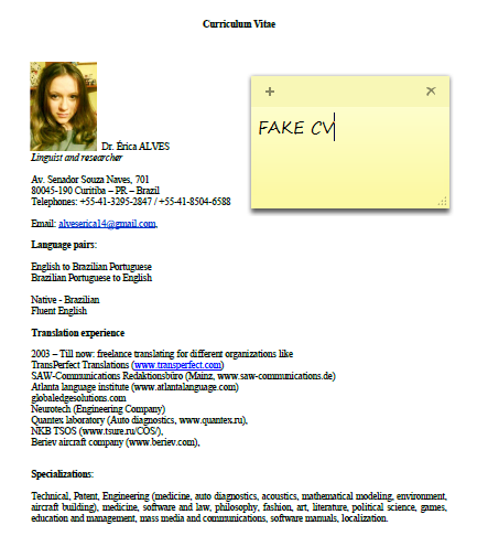 Europass Cv Template Portuguese Resume Cover Letter Examples