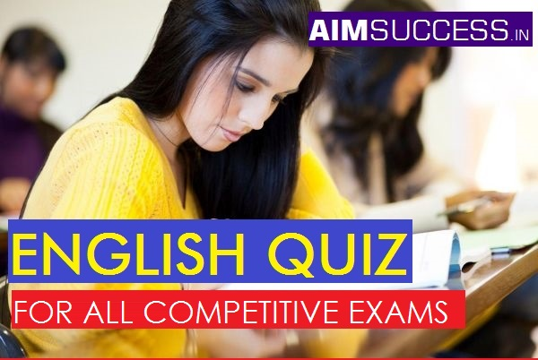 English MCQ for SBI Clerk