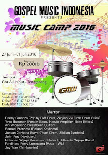 Gospel Music Indonesia - Music Camp Kaltim 2016 Gor Aji Imbut Tenggarong
