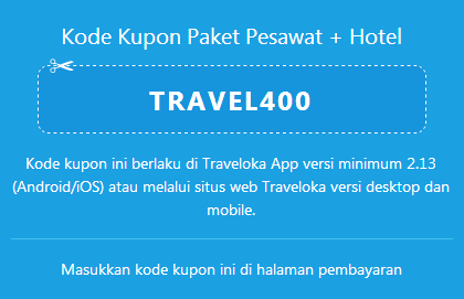 Traveloka Promo Tiket Pesawat dan Hotel
