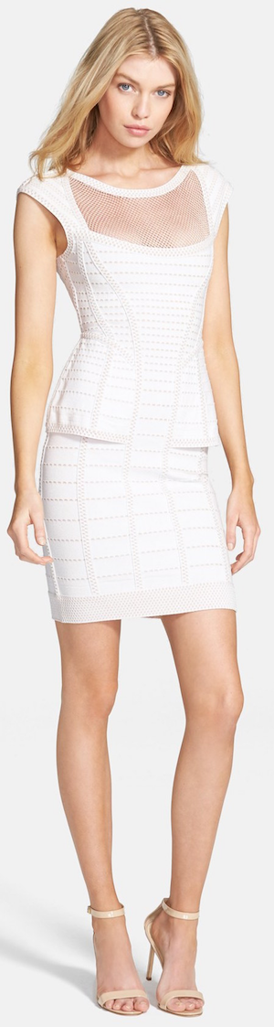 Herve Leger 'Hindi' Peplum Waist Bandage Dress