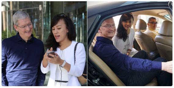 Tim Cook and Didi Chuxing's Jean Liu