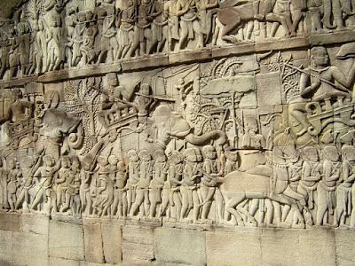 Bajorrelieve del templo de Angkor Wat.