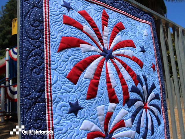 Fireworks wall hanging closeup 2