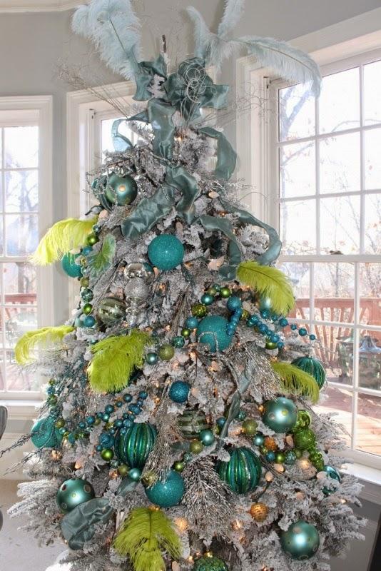 cuarto navidad turquesa